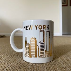 White & Gold New York City Coffee Mug